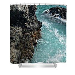 Porto Covo Cliff Views Shower Curtain