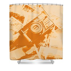 Posterised Photography Shower Curtain