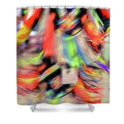 Powwow Abstraction #2 Shower Curtain