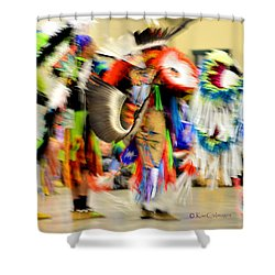 Powwow Abstraction #4 Shower Curtain