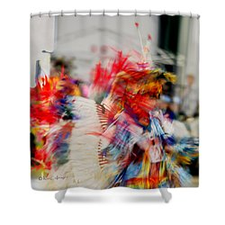 Powwow Abstraction #5 Shower Curtain
