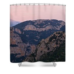 Shower Curtain featuring the photograph Pre Pyrenees Sunset by Stephen Taylor