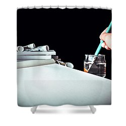 Preparing To Paint Shower Curtain