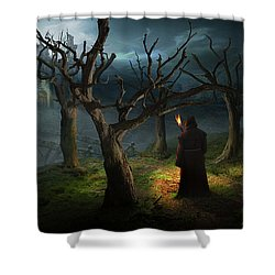 Procesion Shower Curtain