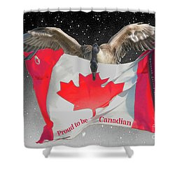 Proud To Be Canadian Shower Curtain