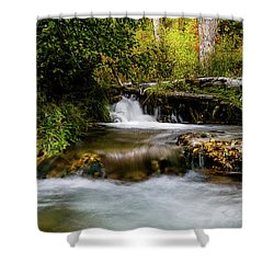 Shower Curtain featuring the photograph Provo Deer Creek Cascades by TL Mair