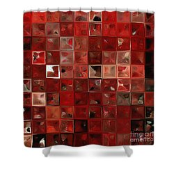 Shower Curtain featuring the painting Psalm 3 3 . The Lord, A Shield Around Me by Mark Lawrence