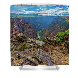 Pulpit Rock Overlook Shower Curtain