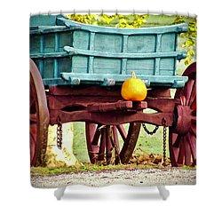 Pumpkin Trail Mix Shower Curtain