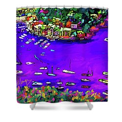 Purple Cove Shower Curtain