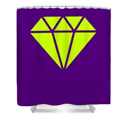 Purple Diamond Yellow Shower Curtain