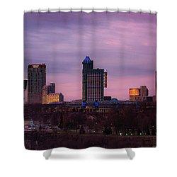 Purple Haze Skyline Shower Curtain