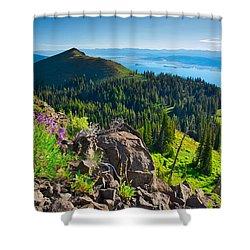 Purple Vista Shower Curtain