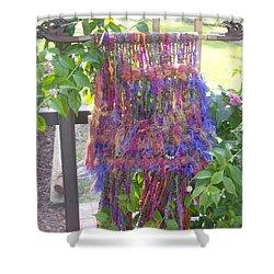 Purple Weaving Shower Curtain