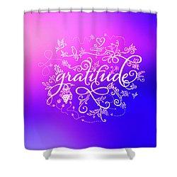 Purply Pink Gratitude Shower Curtain