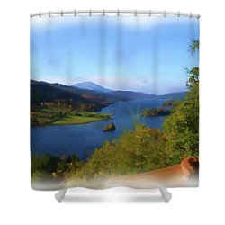 Queens View Painting Shower Curtain