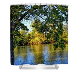 Shower Curtain featuring the photograph Quite Idaho Evening On The Boise River by Jon Burch Photography