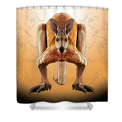 R Is For Red Knagaroo Shower Curtain