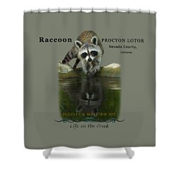 Raccoon Puzzler And Mastermind Shower Curtain