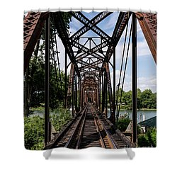 Railroad Bridge 6th Street Augusta Ga 1 Shower Curtain