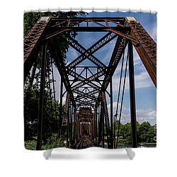 Railroad Bridge 6th Street Augusta Ga 2 Shower Curtain