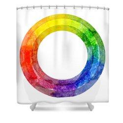 Rainbow Color Wheel Shower Curtain