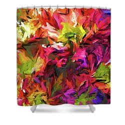 Rainbow Flower Rhapsody In Pink And Purple Shower Curtain