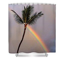 Rainbow Just Before Sunset Shower Curtain
