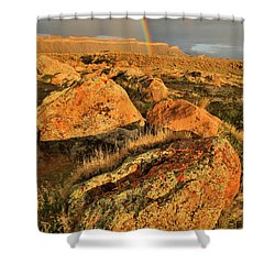 Rainbow Over The Book Cliffs Shower Curtain