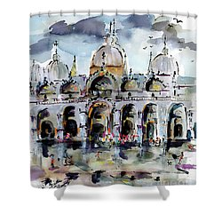 Rainy Day In Venice Piazza San Marco Shower Curtain