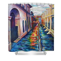 Rainy Pirate Alley Shower Curtain