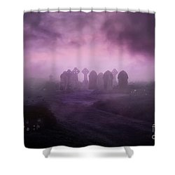 Rave In The Grave Shower Curtain