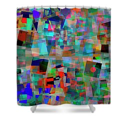Shower Curtain featuring the digital art Red Alert by Edmund Nagele
