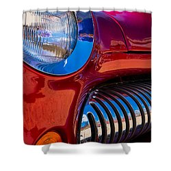 Red Car Chrome Grill Shower Curtain