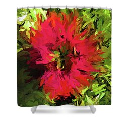 Red Flower Flames Shower Curtain