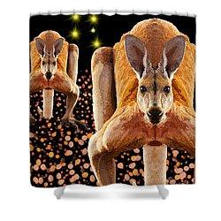 Red Kangaroos Shower Curtain
