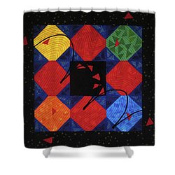Red Rubber Ball Shower Curtain