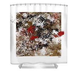 Red Splashes Shower Curtain