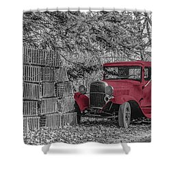 Red Truck Shower Curtain