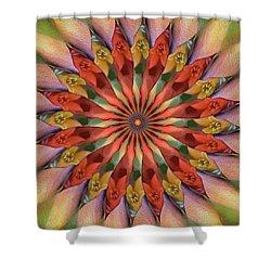 Red Velvet Quillineum Shower Curtain