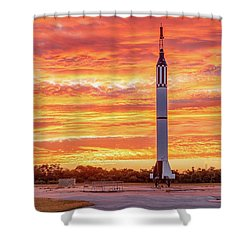 Redstone At Dawn Shower Curtain