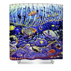 Reef Break Shower Curtain