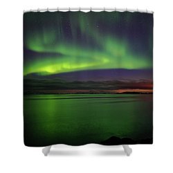 Reflected Aurora Shower Curtain
