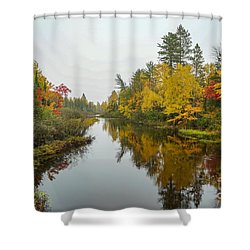 Reflections In Autumn Shower Curtain