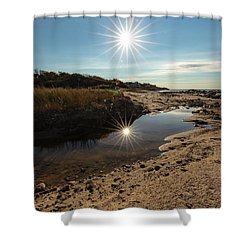 Reflections Of Autumn At The Beach Shower Curtain
