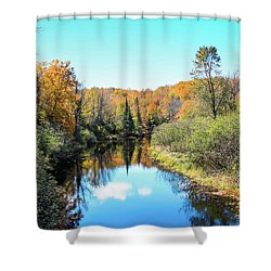Reflections Of Fall In Wisconsin Shower Curtain