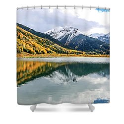 Reflections On Crystal Lake 1 Shower Curtain