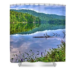 Shower Curtain featuring the photograph Reflections On Sis Lake by David Patterson
