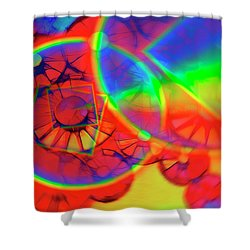 Refracting The Wheel Shower Curtain