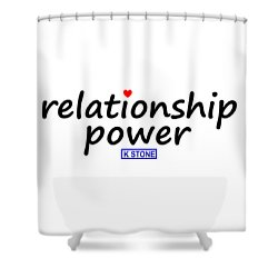 Relationship Power Shower Curtain